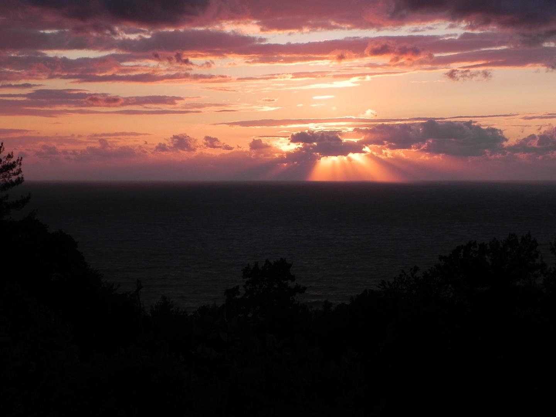 Abendhimmel über der Schwarzmeerküste bei Bartın