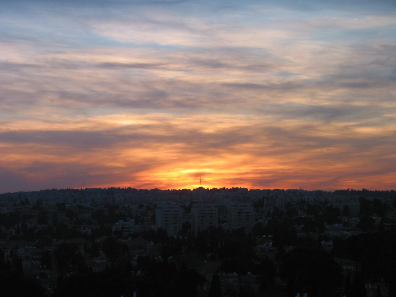 Abendhimmel über Jerusalem 1