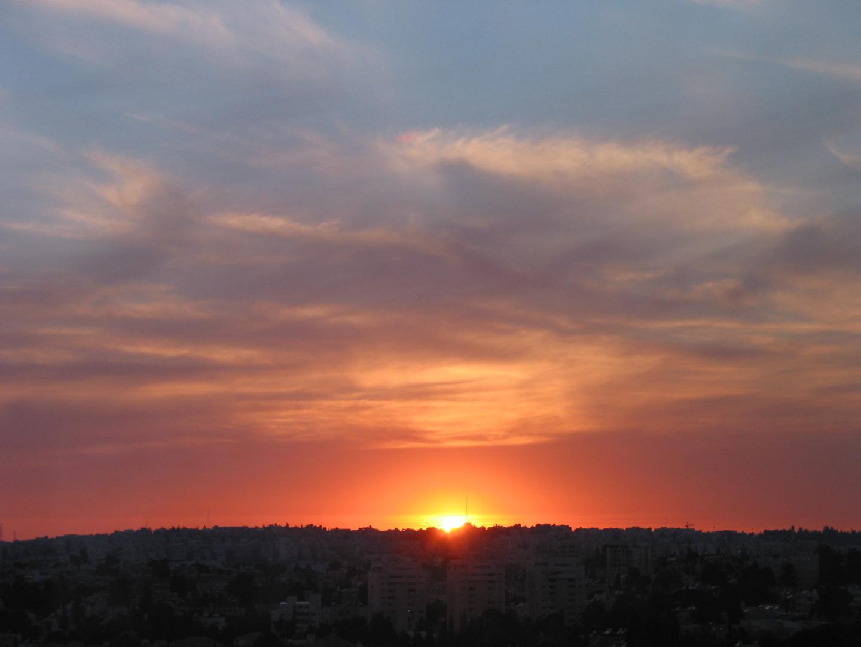 Abendhimmel über Jerusalem 2