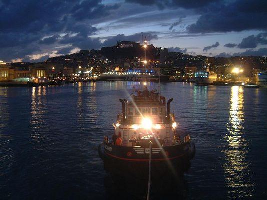 Abendhimmel über Neapel