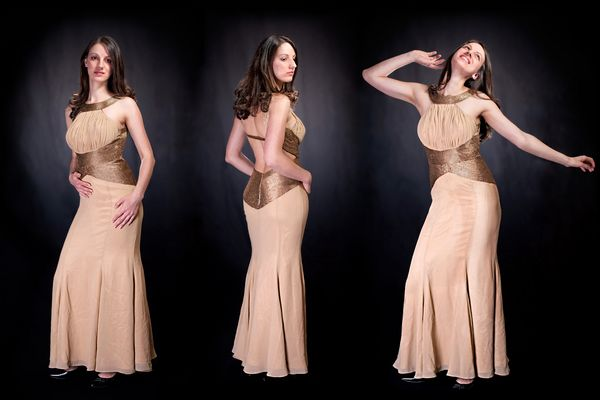 Abendkleid in Gold
