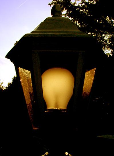 Abendlampe ohne Licht