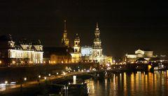 Abendliche Altstadtkulisse von Dresden