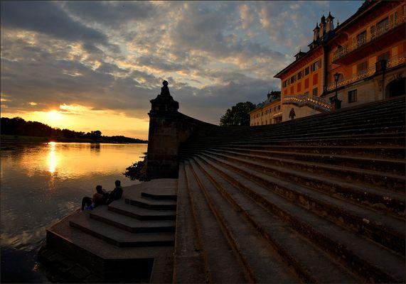 Abendliche Schlossromantik ...,
