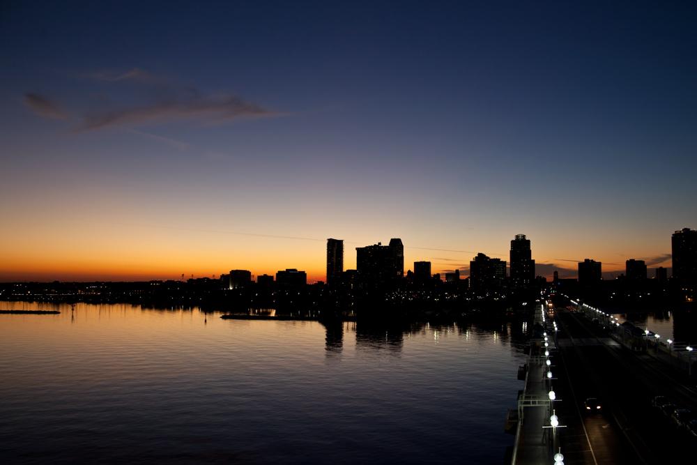 Abendliche Skyline