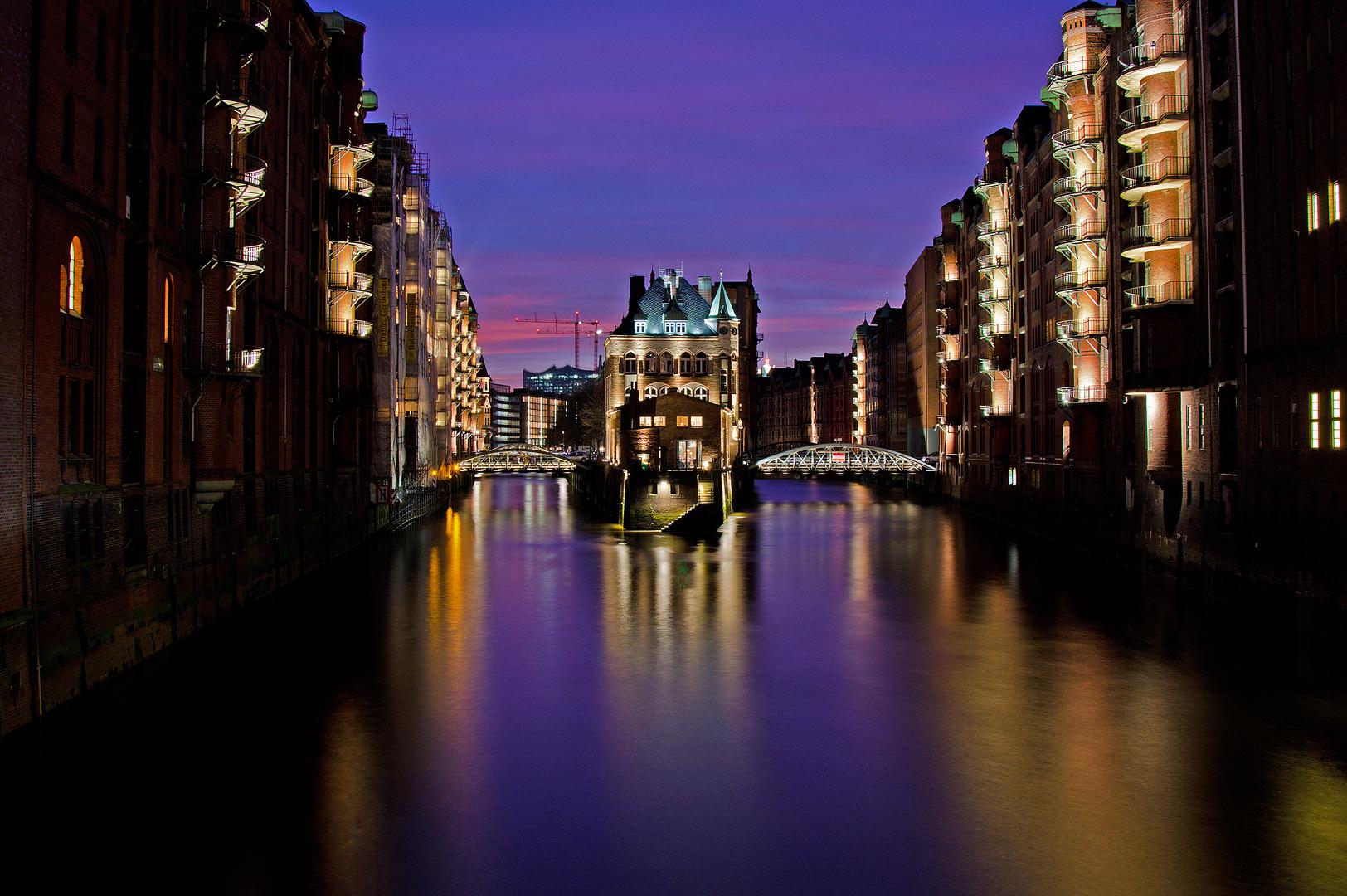 Abendliche Speicherstadt - Hamburg