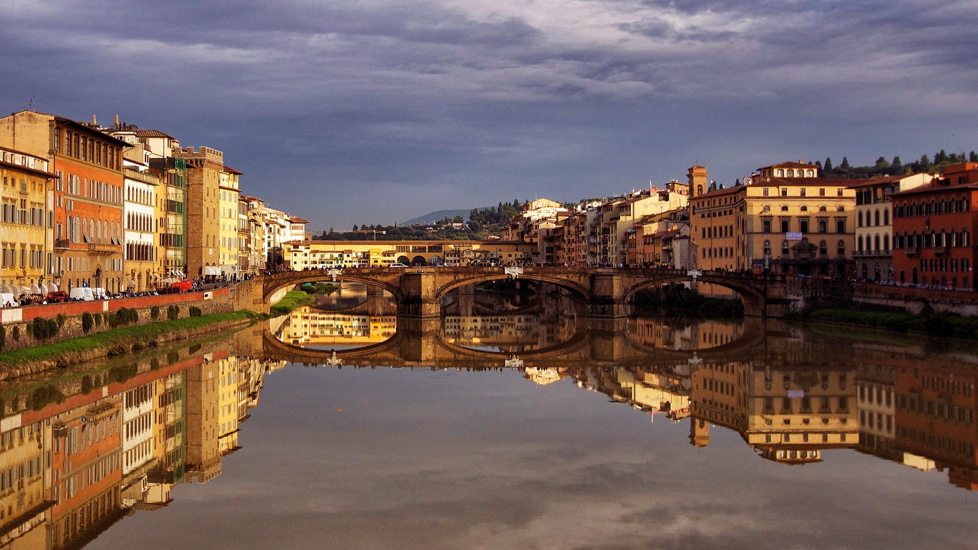 abendliche Spiegelungen in Florenz