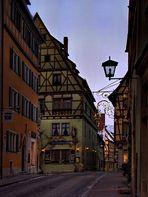 Abendliche Stadtansicht von Rothenburg ob der Tauber