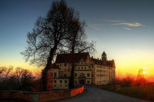 Abendliche Stimmung am Schloss Heiligenberg