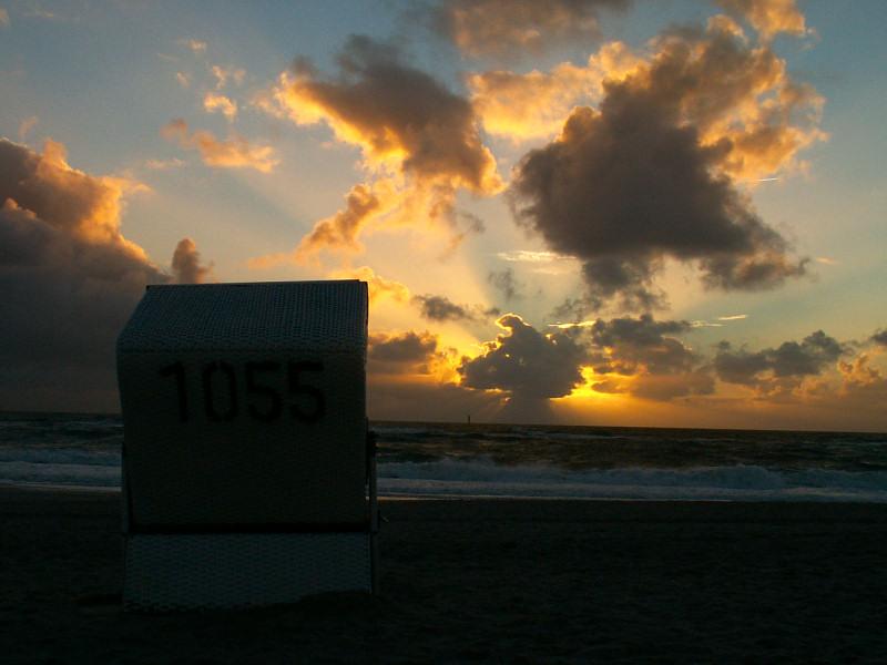 abendliche Strandidylle