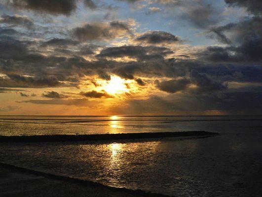 Abendliche Strandimpressionen in Norddeich