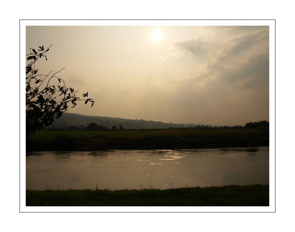 Abendliche Stunde an der Weser