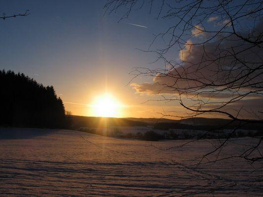 Abendliche Winteridylle