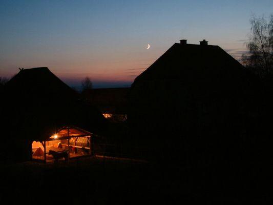 Abendlicher Bauernhof