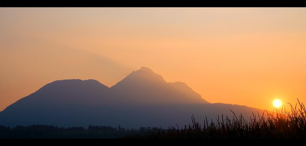 Abendlicher Blick auf den Staufen