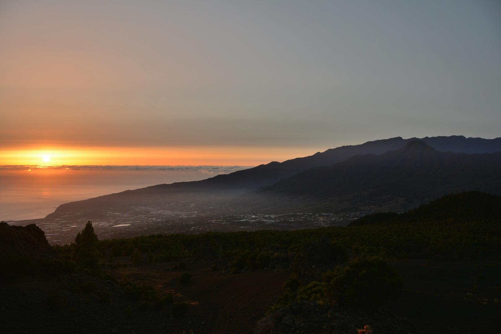Abendlicher Blick auf die Ebene von Los Llanos