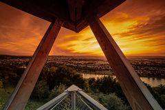 Abendlicher Blick über Koblenz...