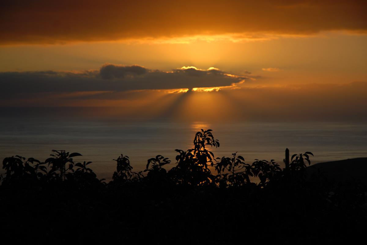 Abendlicher Blick vom Balkon Richtung Amerika