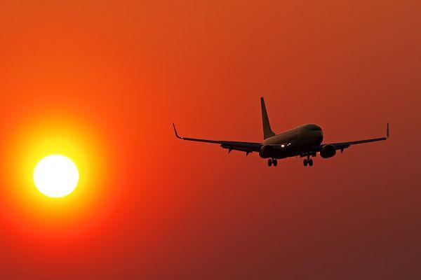 Abendlicher Landeanflug auf HAJ ...