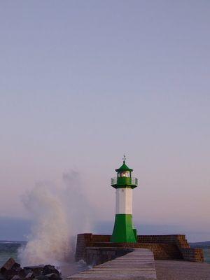 abendlicher Leuchtturm