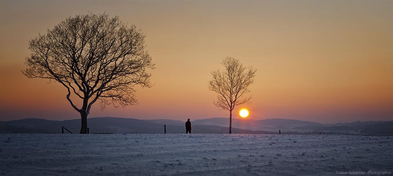 abendlicher Winterspaziergang