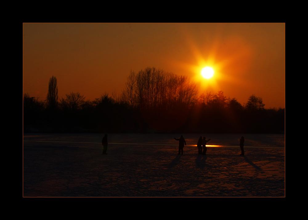 abendliches Wintervergnügen