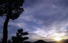 abendlicht am berg