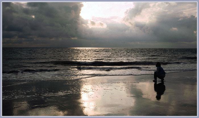Abendlicht am Nordseestrand