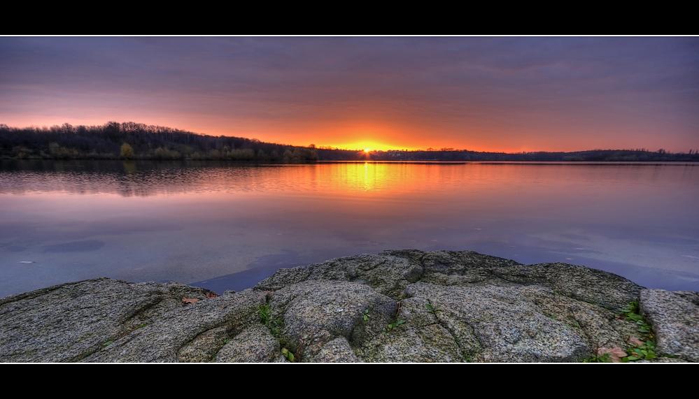 Abendlicht am See