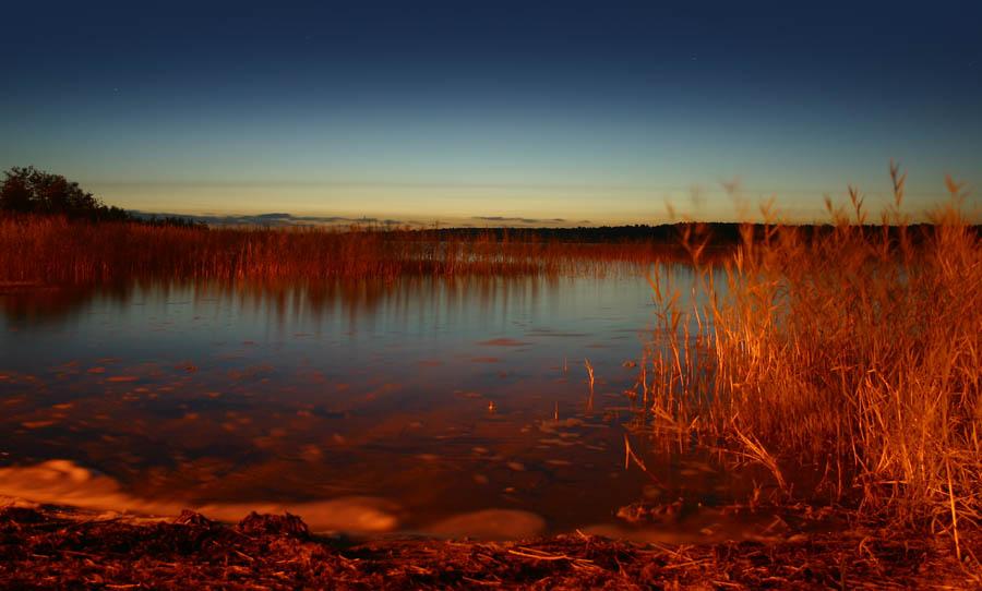 Abendlicht an der See