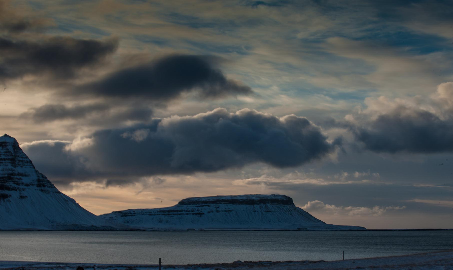 Abendlicht in Island