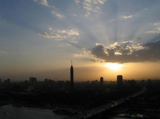 Abendlicht über Kairo