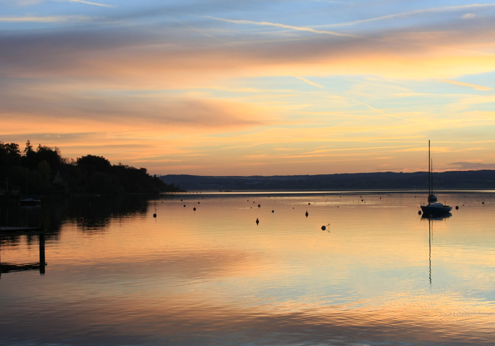 ABENDROT AM AMMERSEE