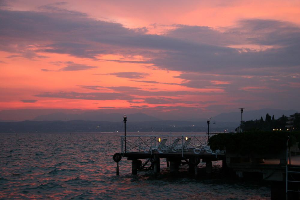 Abendrot am Gardasee