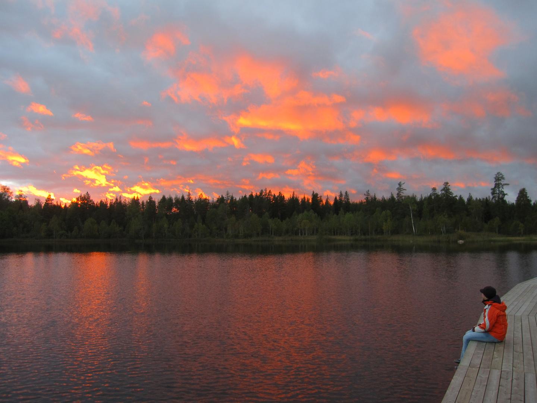 Abendrot an schwedischem See