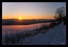 Abendrot auf Schnee