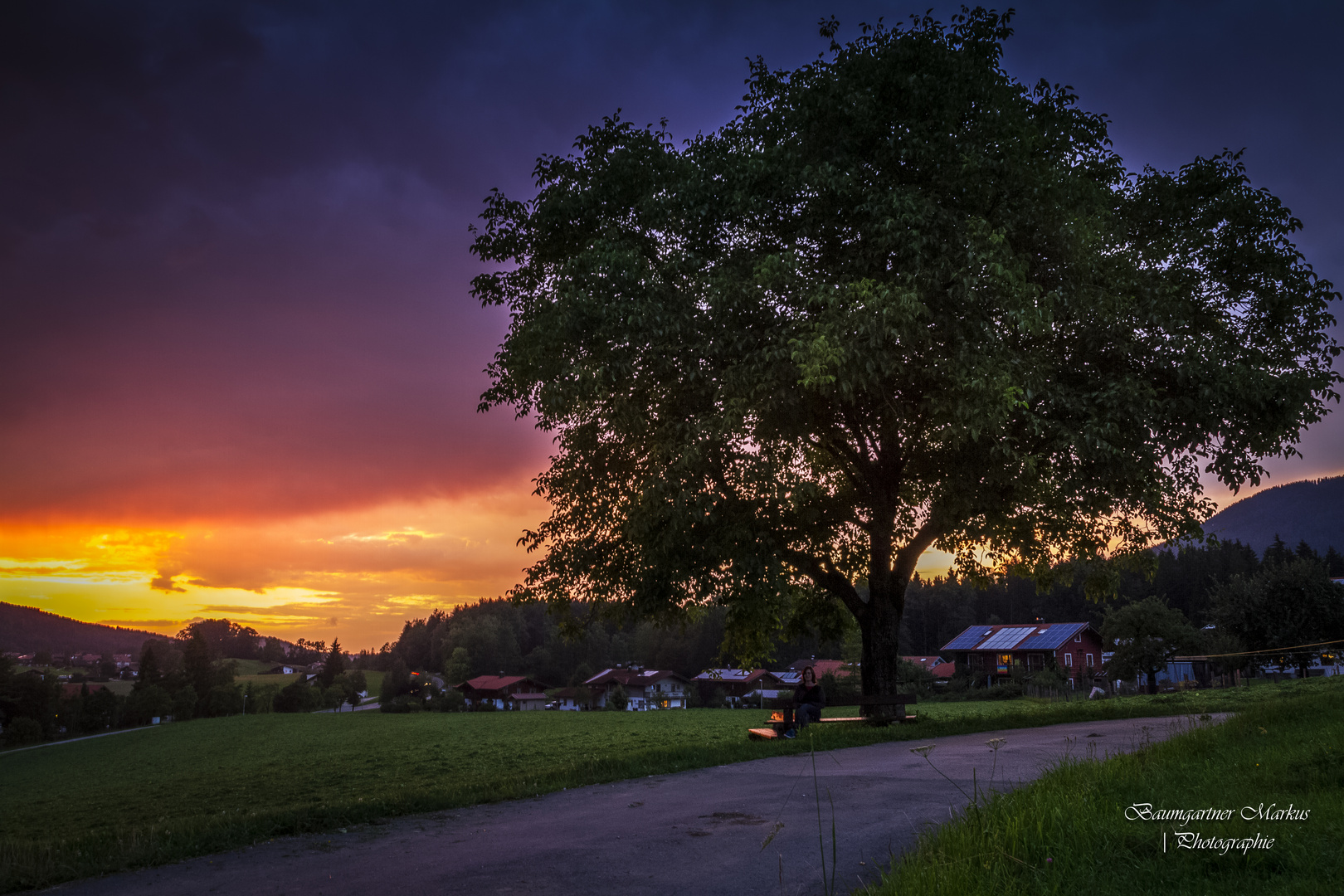 Abendrot in Inzell