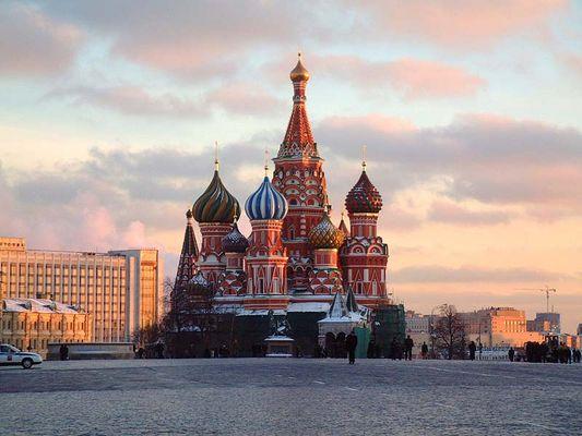 Abendrot - Roter Platz - Moskau - Basiliuskathedrale