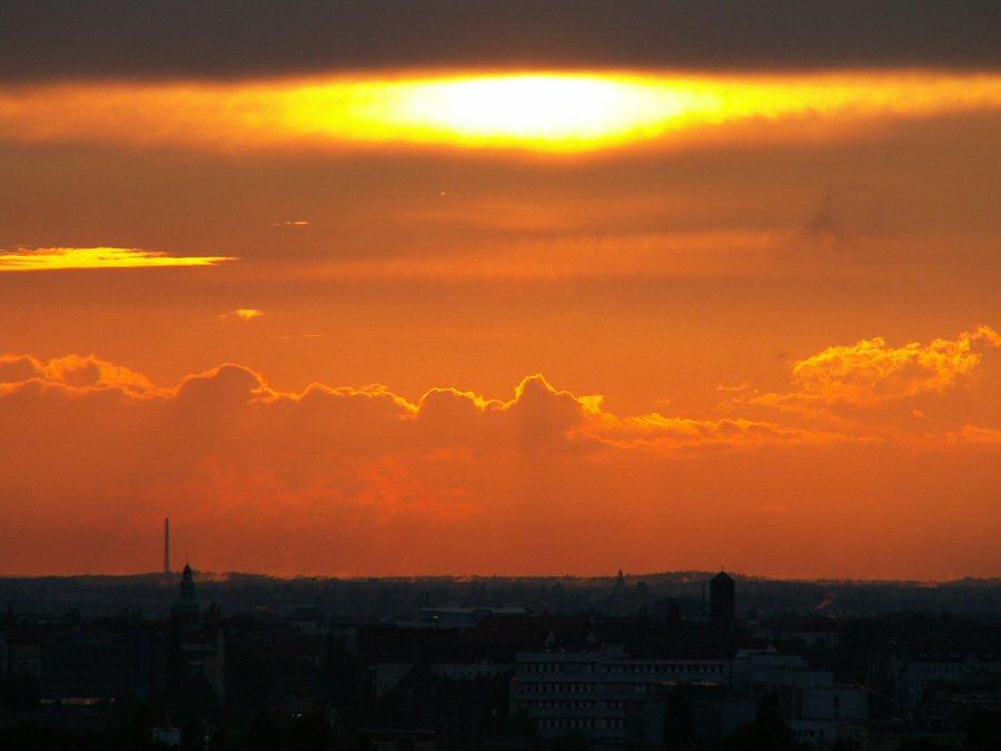 Abendrot über Berlin