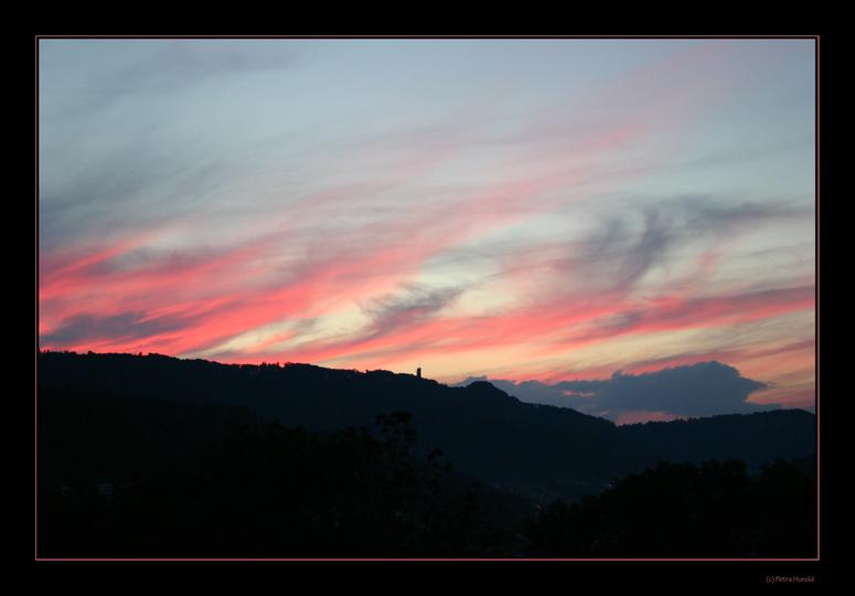Abendrot über dem Sihltal