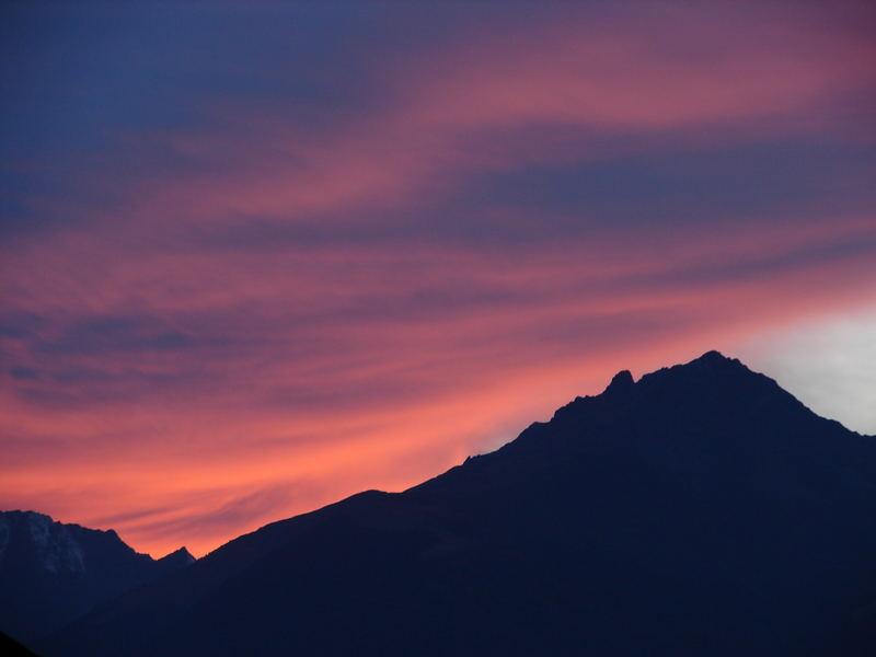 Abendrot über Innsbruck