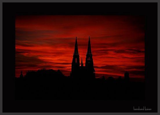 Abendrot über Regensburg