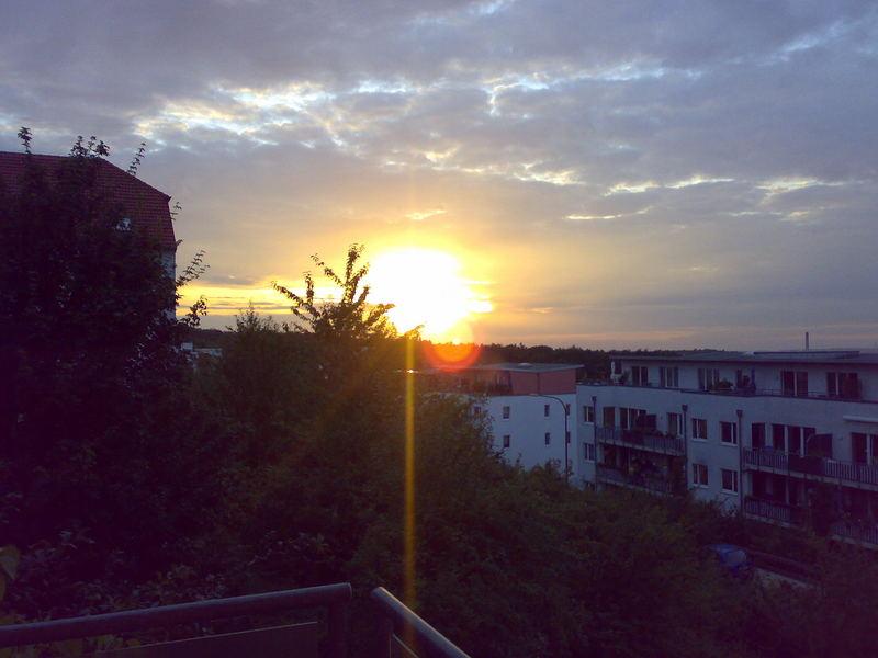 Abendrot über Wuppertal