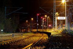 Abendruhe auf dem Bahnsteig