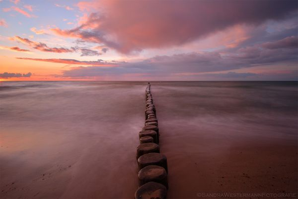 Abends allein am Strand