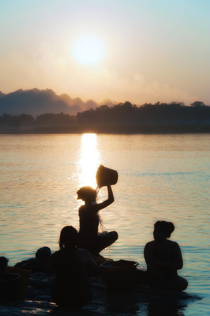 Abends am Fluß