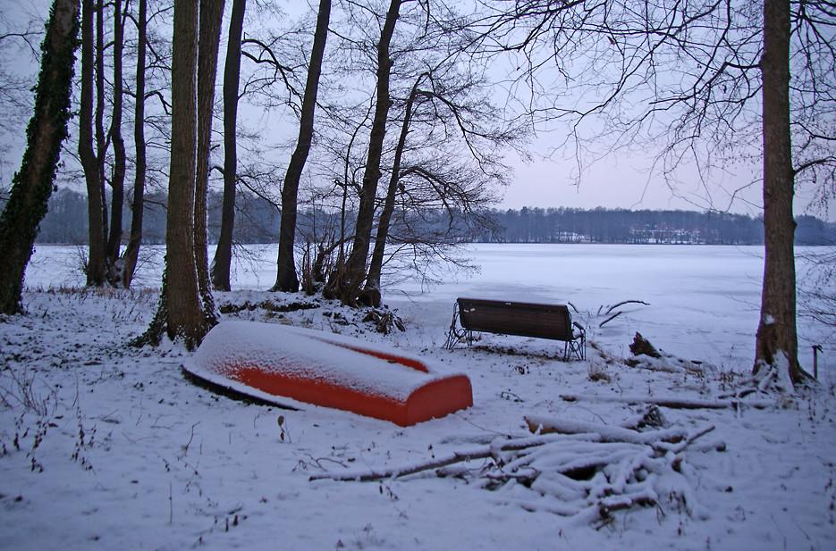 Abends am Glienicker See, 08.01.09 – 03