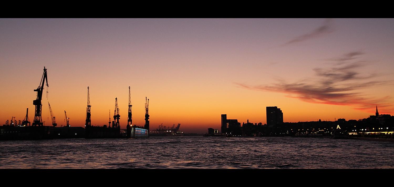 abends am Hafen