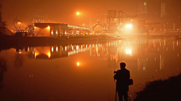 Abends am Kraftwerk