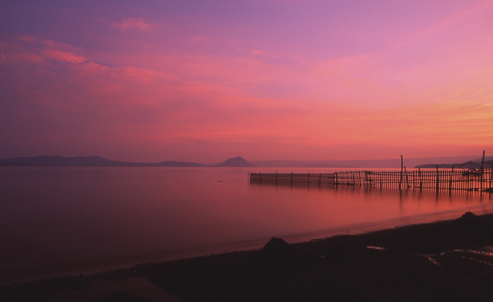 Abends am Lake Taal